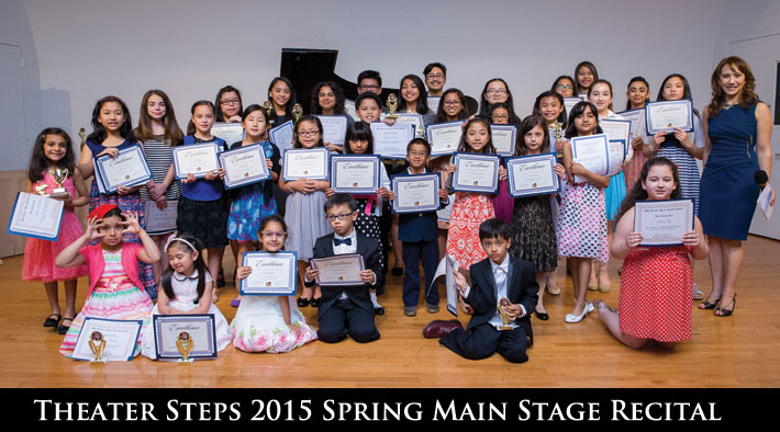 Students at the yearly Theater Steps Spring Main Stage Recital