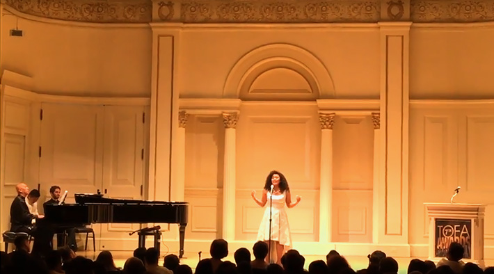 Asia performs at Carnegie Hall for TOFA 2017.